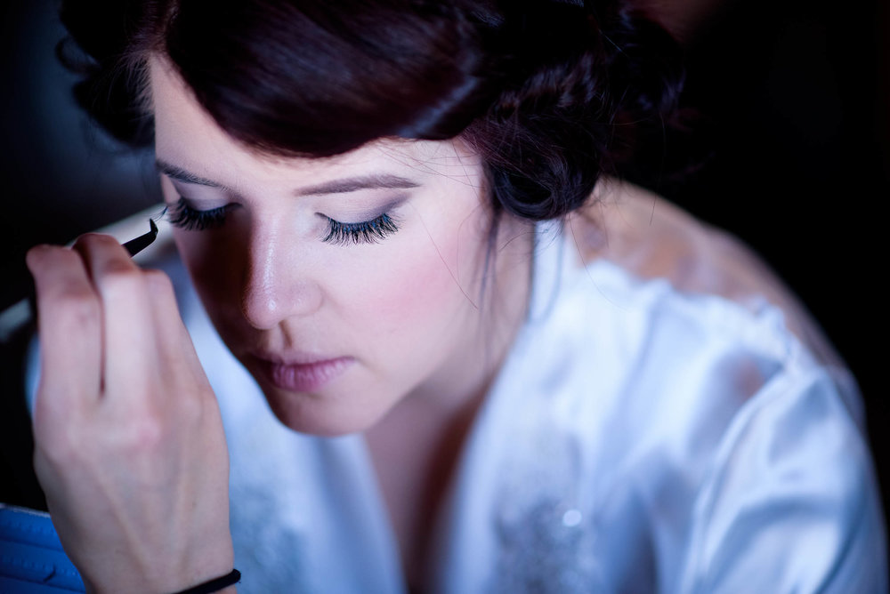 Bride getting ready during her Montesino Ranch wedding Austin, Texas.