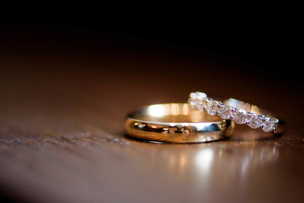 Ring detail photo during a Blackstone Chicago wedding.