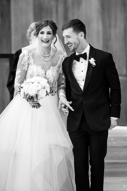 Married during a Fourth Presbyterian Church wedding.