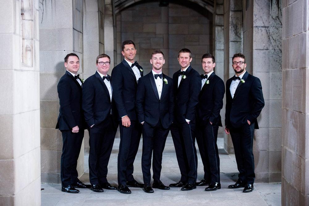 Groomsmen during a Fourth Presbyterian Church wedding.