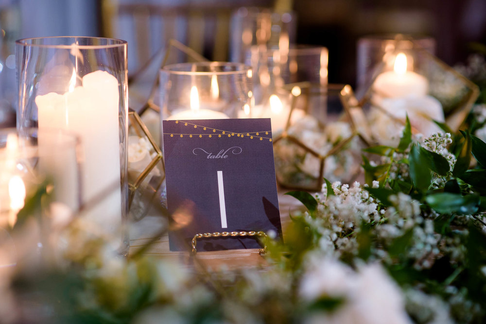 Reception detail during a Blackstone Chicago wedding.