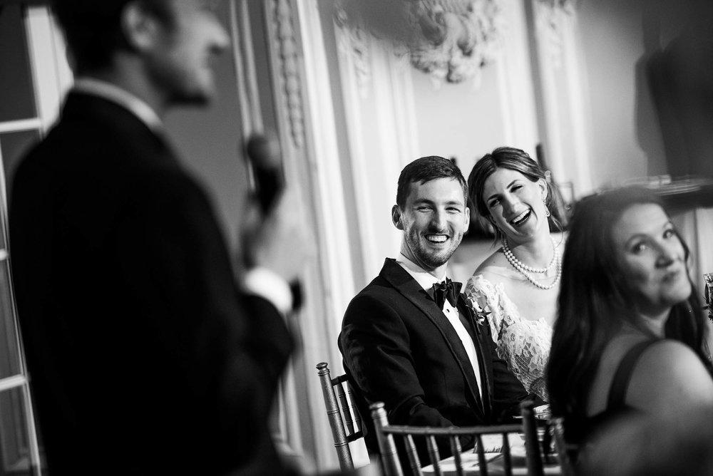 Best man speech during a Blackstone Chicago wedding.