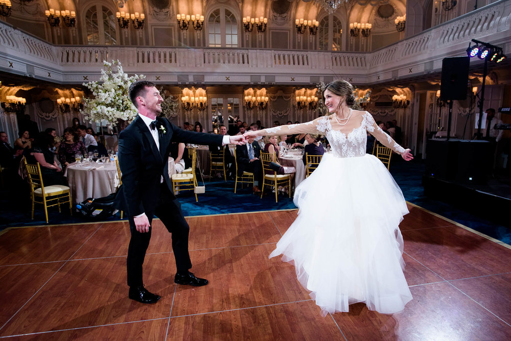 First dance during a Blackstone Chicago wedding.