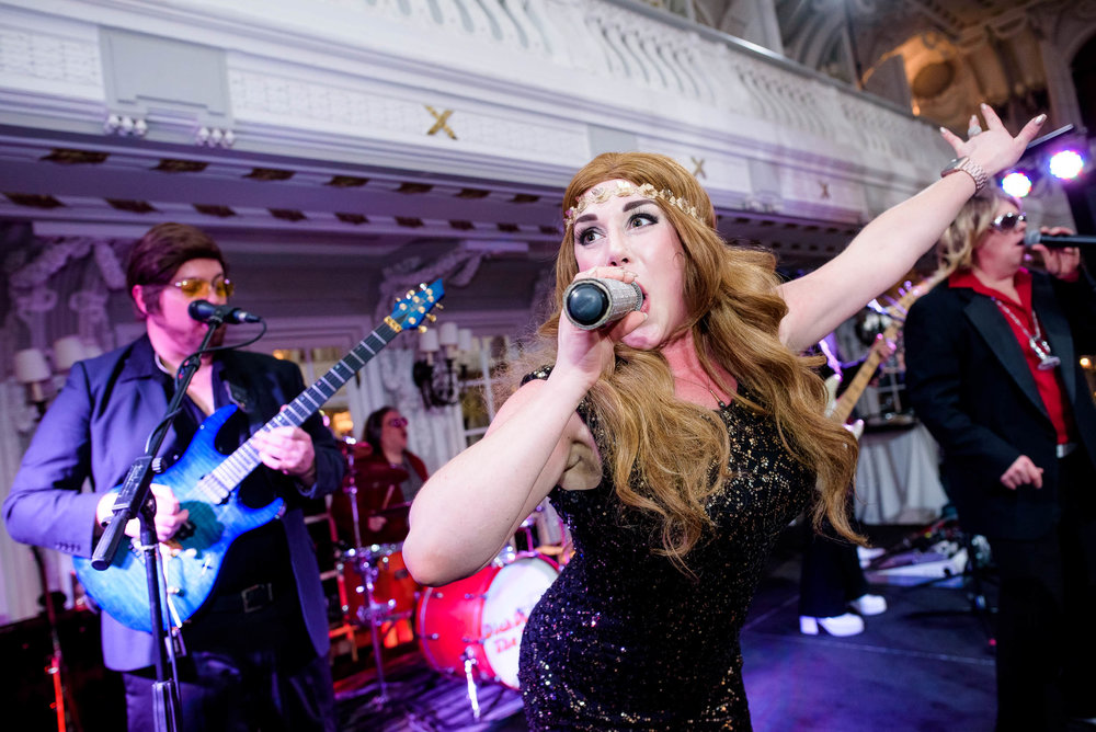 Dick Diamond and the Dusters during a Blackstone Chicago wedding.