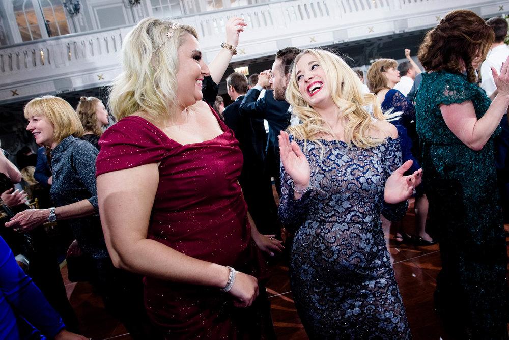 Fun dancing photos during a Blackstone Chicago wedding.
