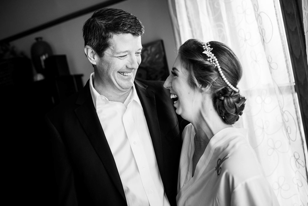 Father and daughter moment during a Newberry Library Chicago wedding.