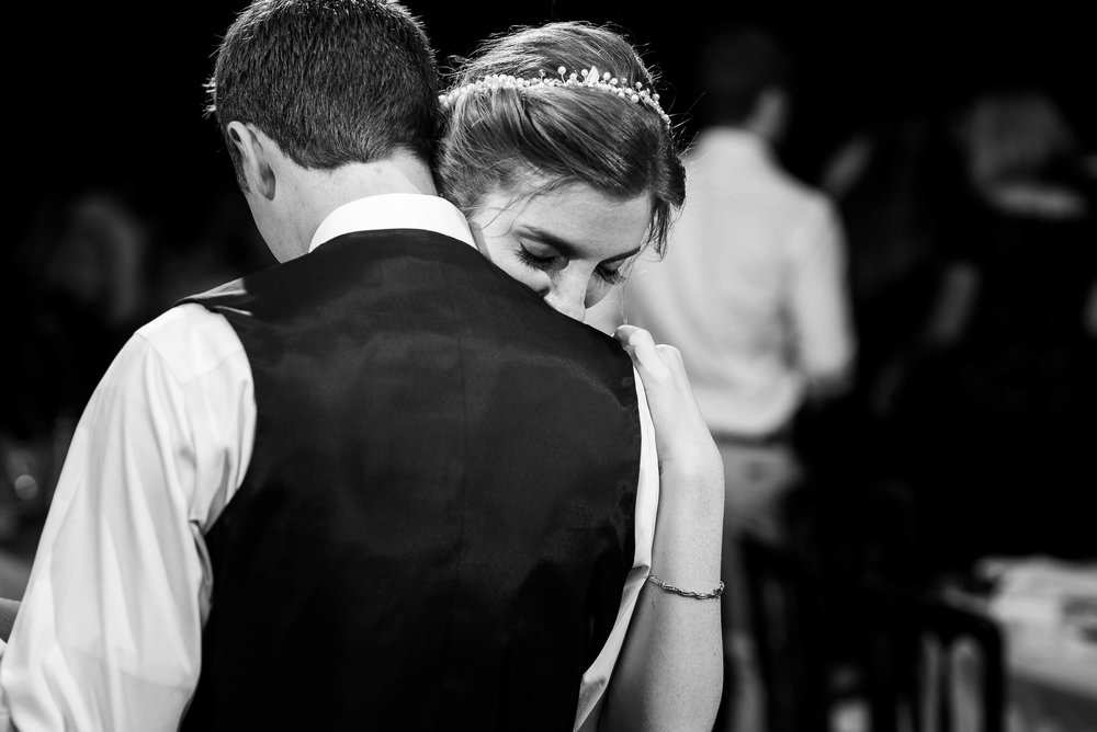 Bride and groom share a moment together during their Newberry Library wedding Chicago.