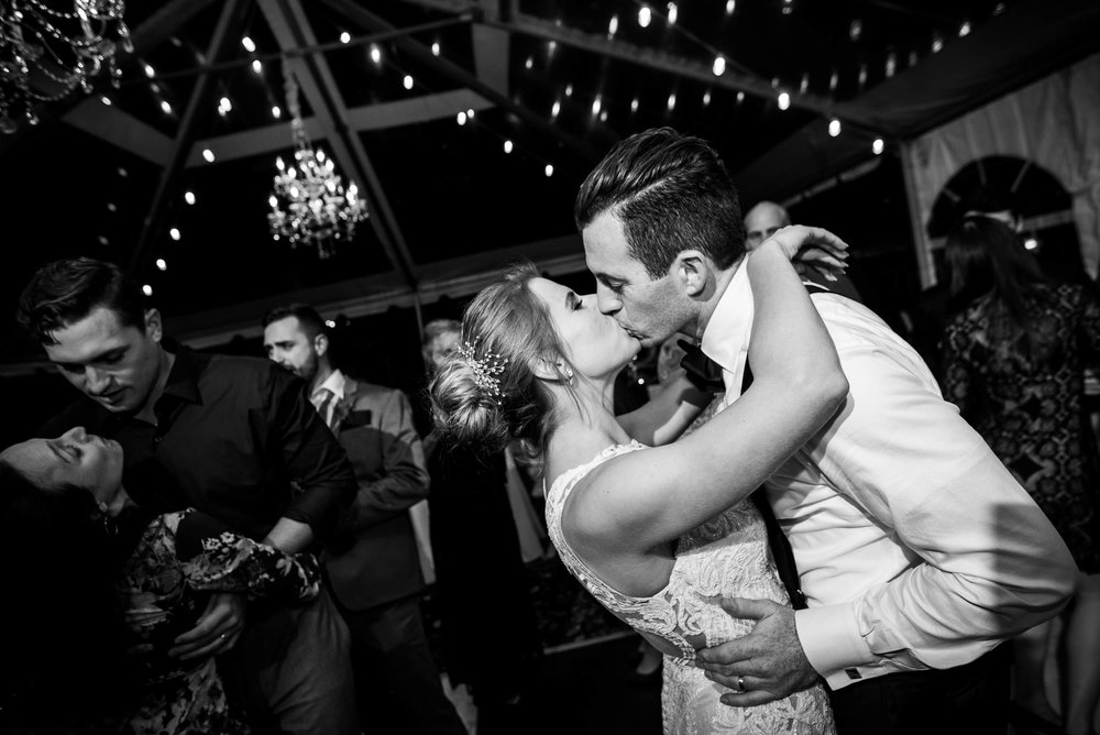 Bride and groom first dance during a Glessner House Chicago wedding reception.