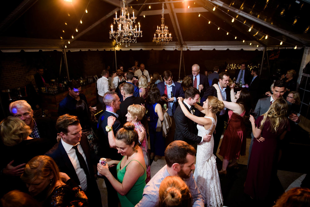 Dance party during a Glessner House Chicago wedding reception.