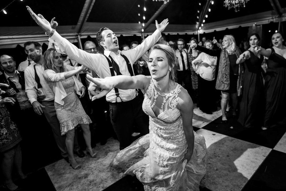 Bride and groom last dance during a Glessner House Chicago wedding reception.