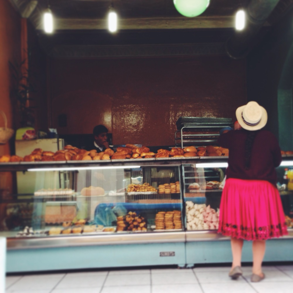 A typical panaderia in Cuenca, Ecuador
