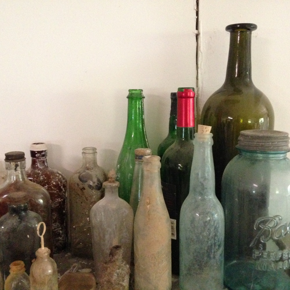 Found bottles as inspiration for form