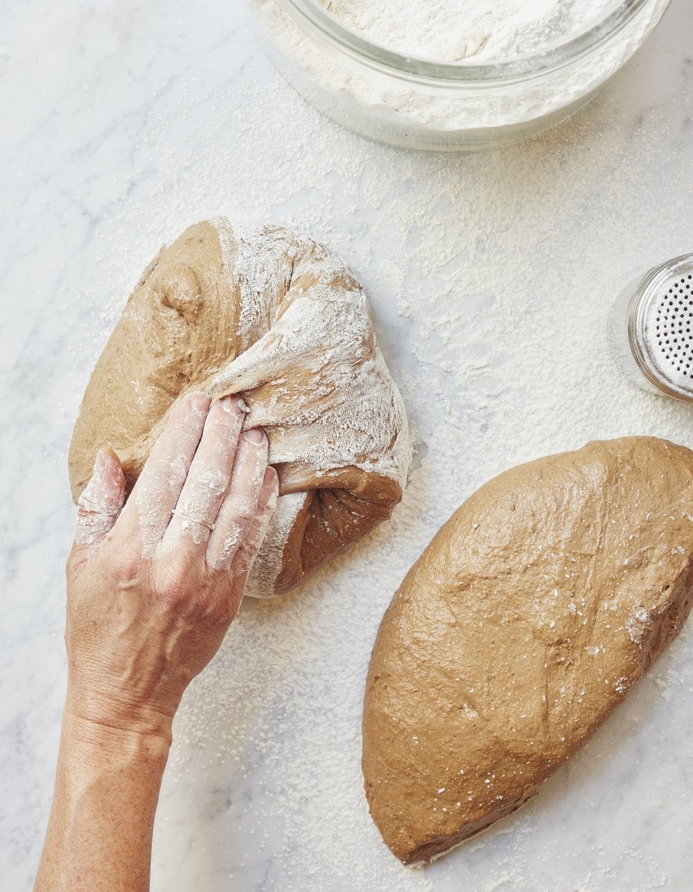 Black Bread being shaped into boules, a recipe from soon to be released Toast & Jam. Photograph by Ngoc Minh Ngo