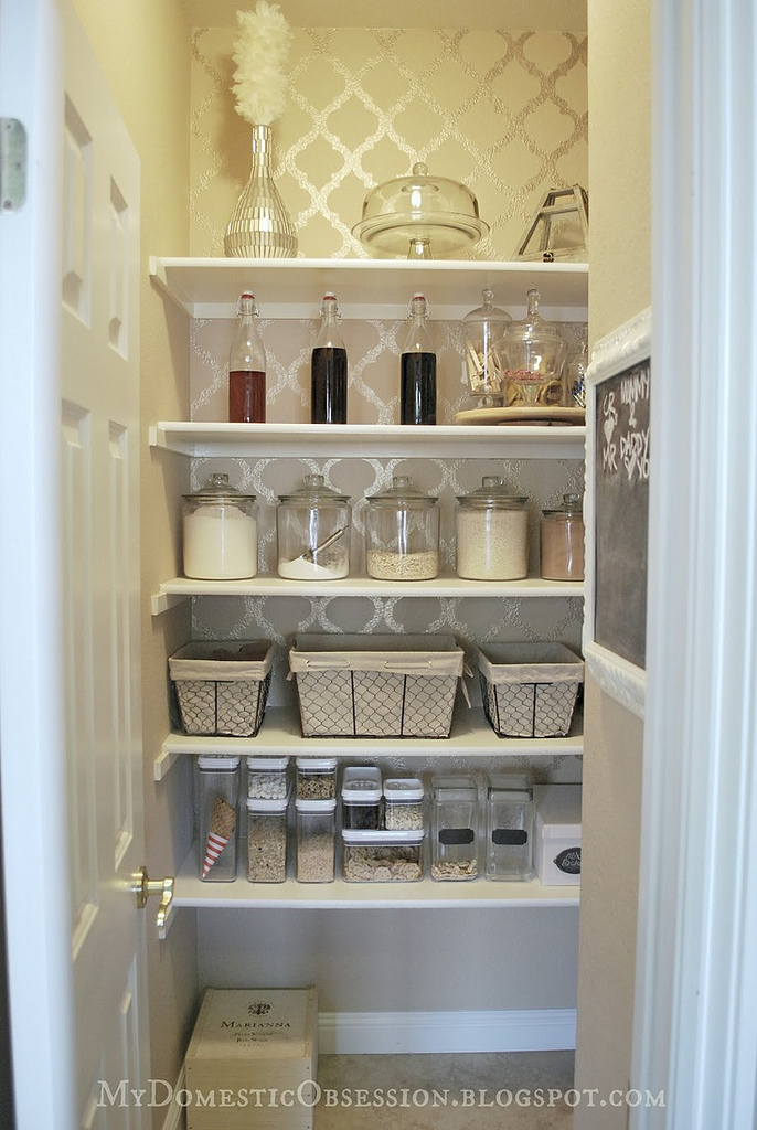Why shouldn't your pantry be functional and stylish?  {Source}