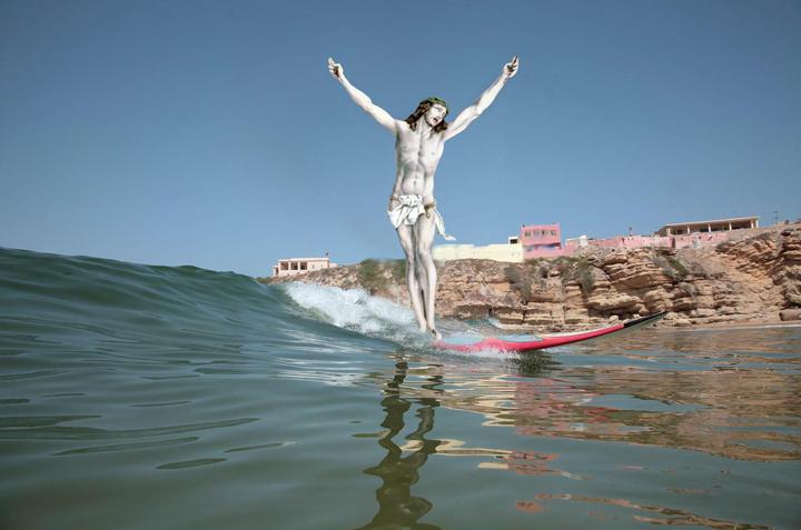"""jesus-everywhere :     Jesus: """"Surf's Up, My Disciple Bros!"""""""