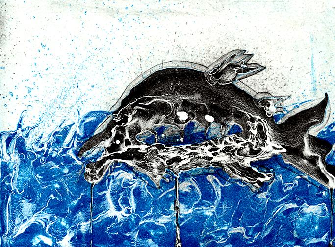 """""""Salmon In Turbulent Waters # 1 """""""