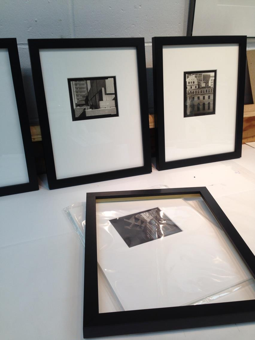 Framing up the prints to go to Panopticon Gallery!