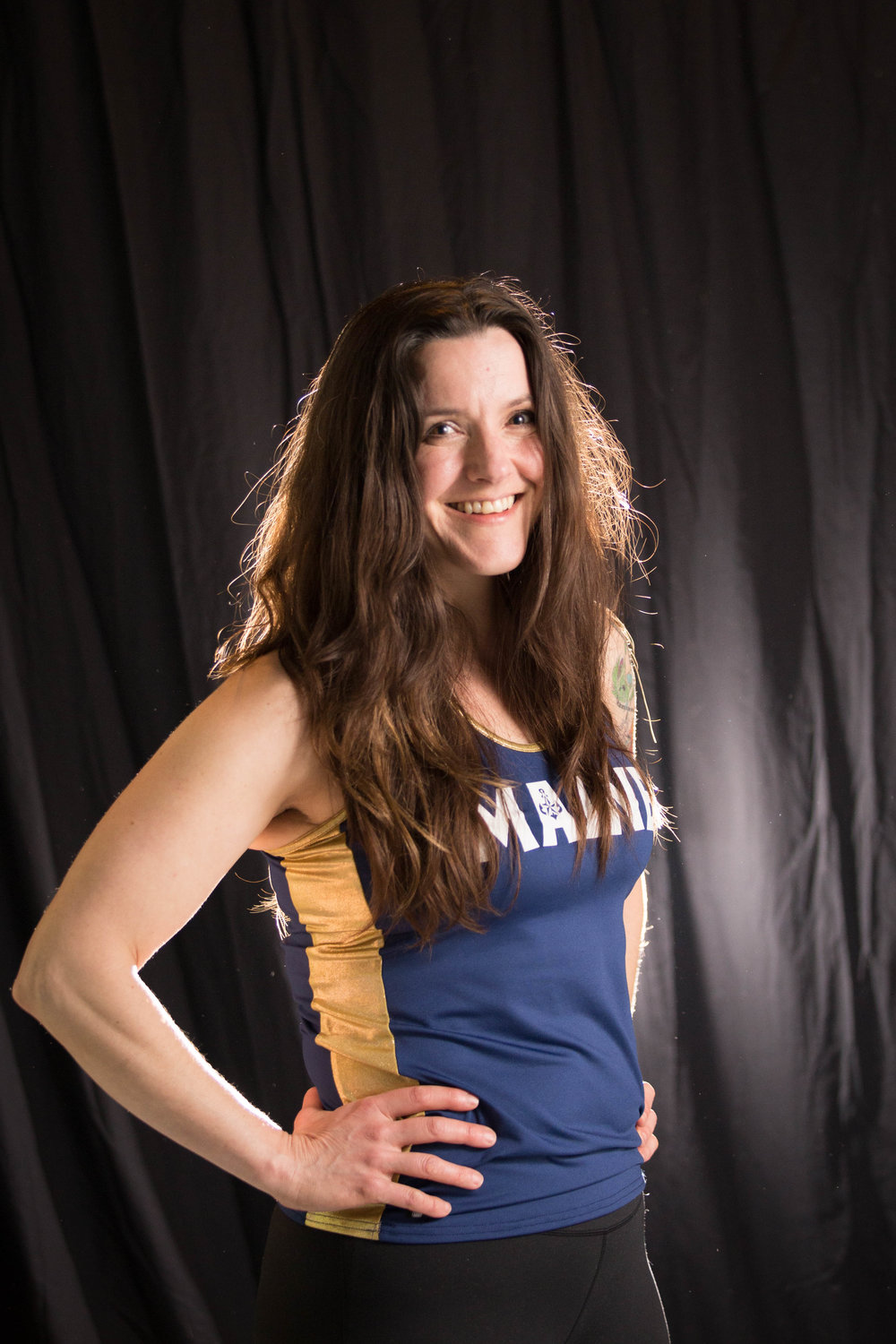 Maine Roller Derby head shots for MaineRollerDerby.com.  Betty B Tough