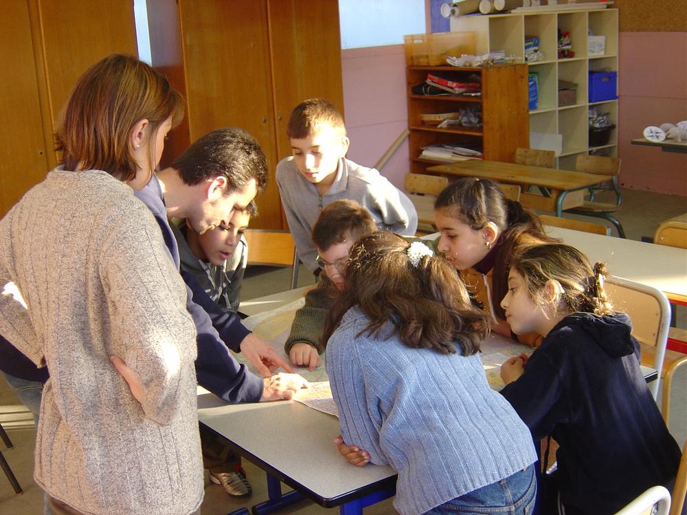 Marc Boudin et Véronique Amar dans les écoles