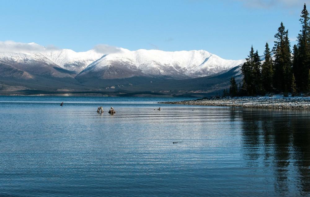 Le lac Kluane au Yukon