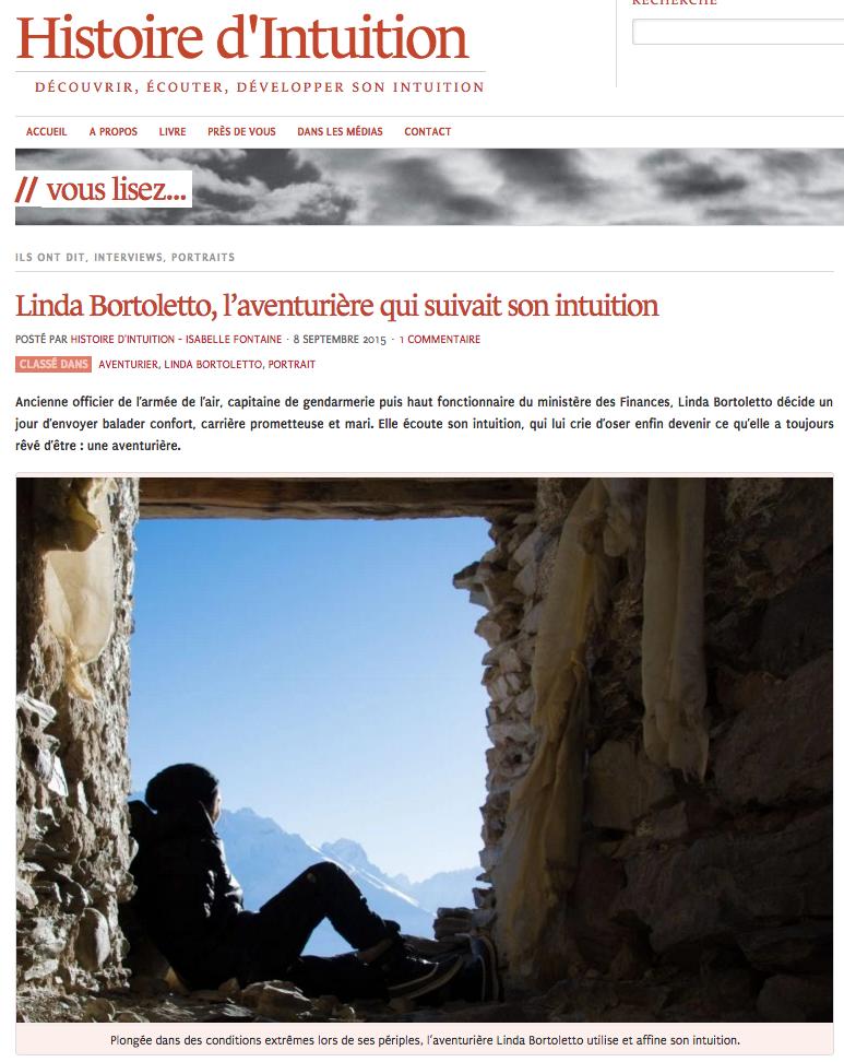 Histoire d'Intuition - Septembre 2015 (Lien)