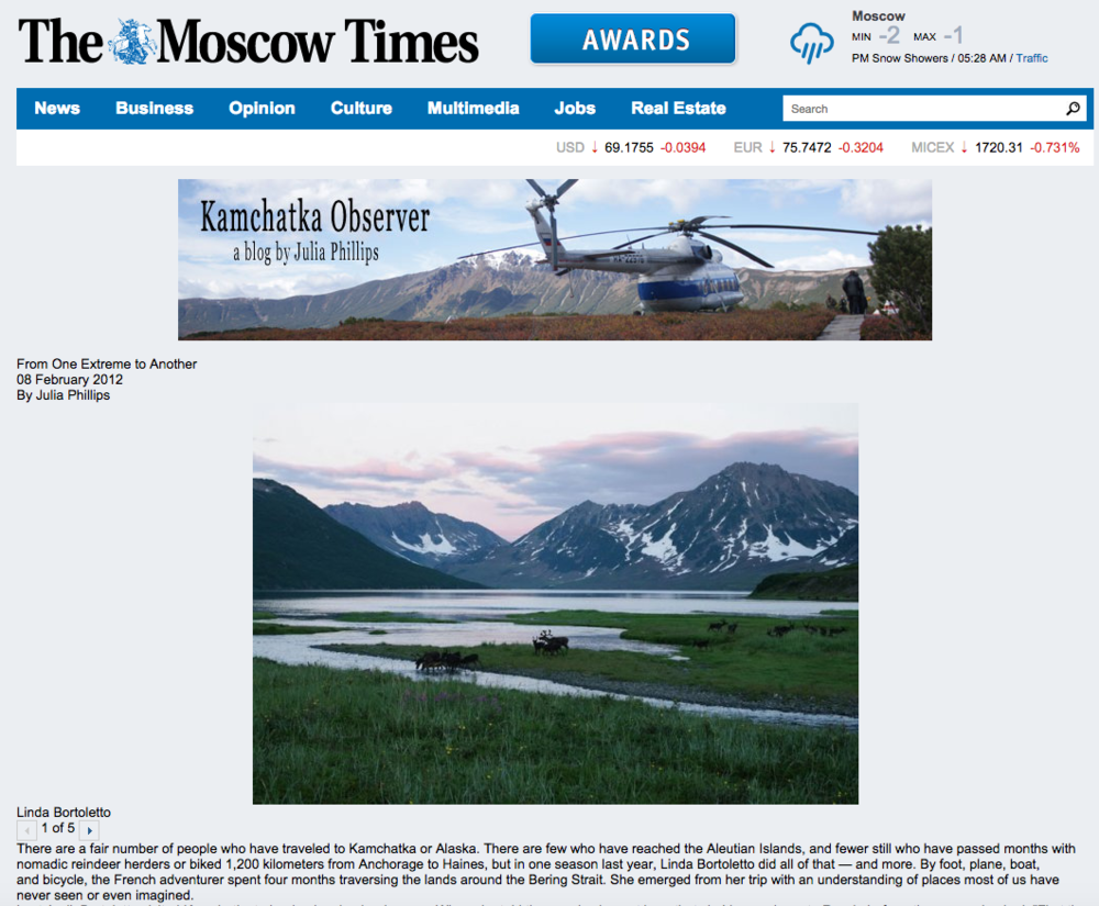 The Moscow Times - Février 2012 (Lien)