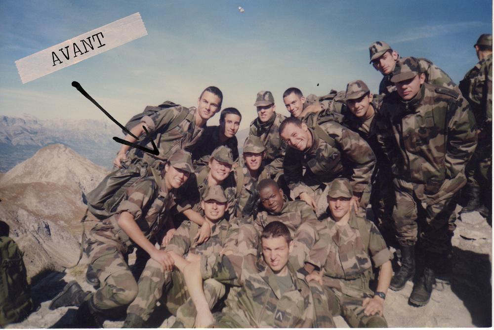 Pendant ma formation militaire à l'Ecole de l'air - 2001