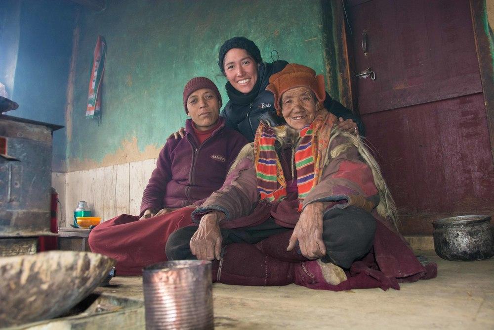 Avec les nonnes bouddhistes de Pichu (Zanskar - Himalaya)