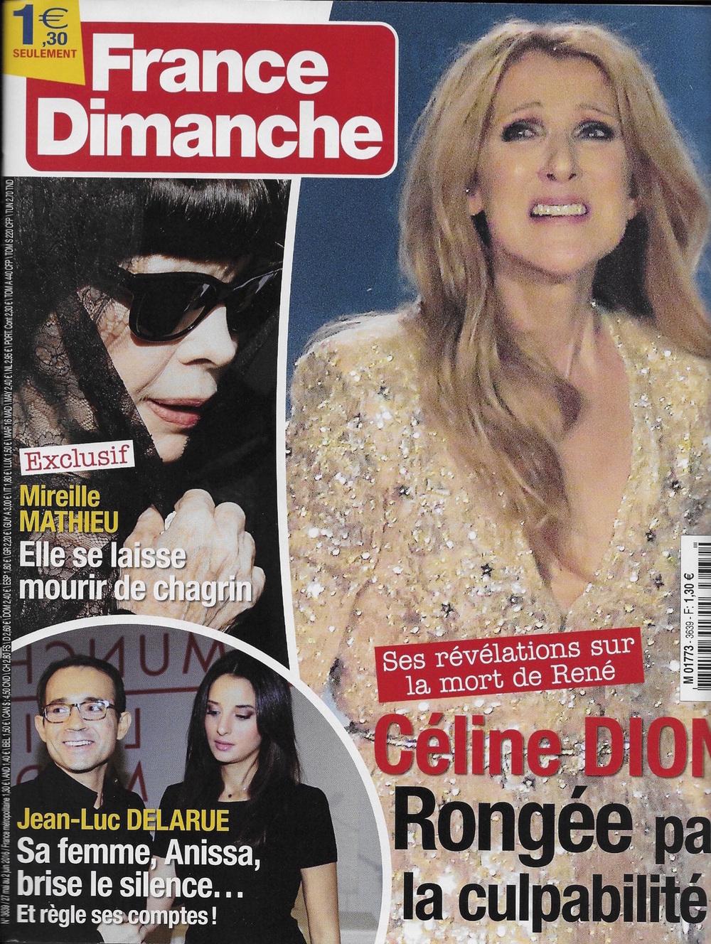France Dimanche - Juin 2016 (Lien)
