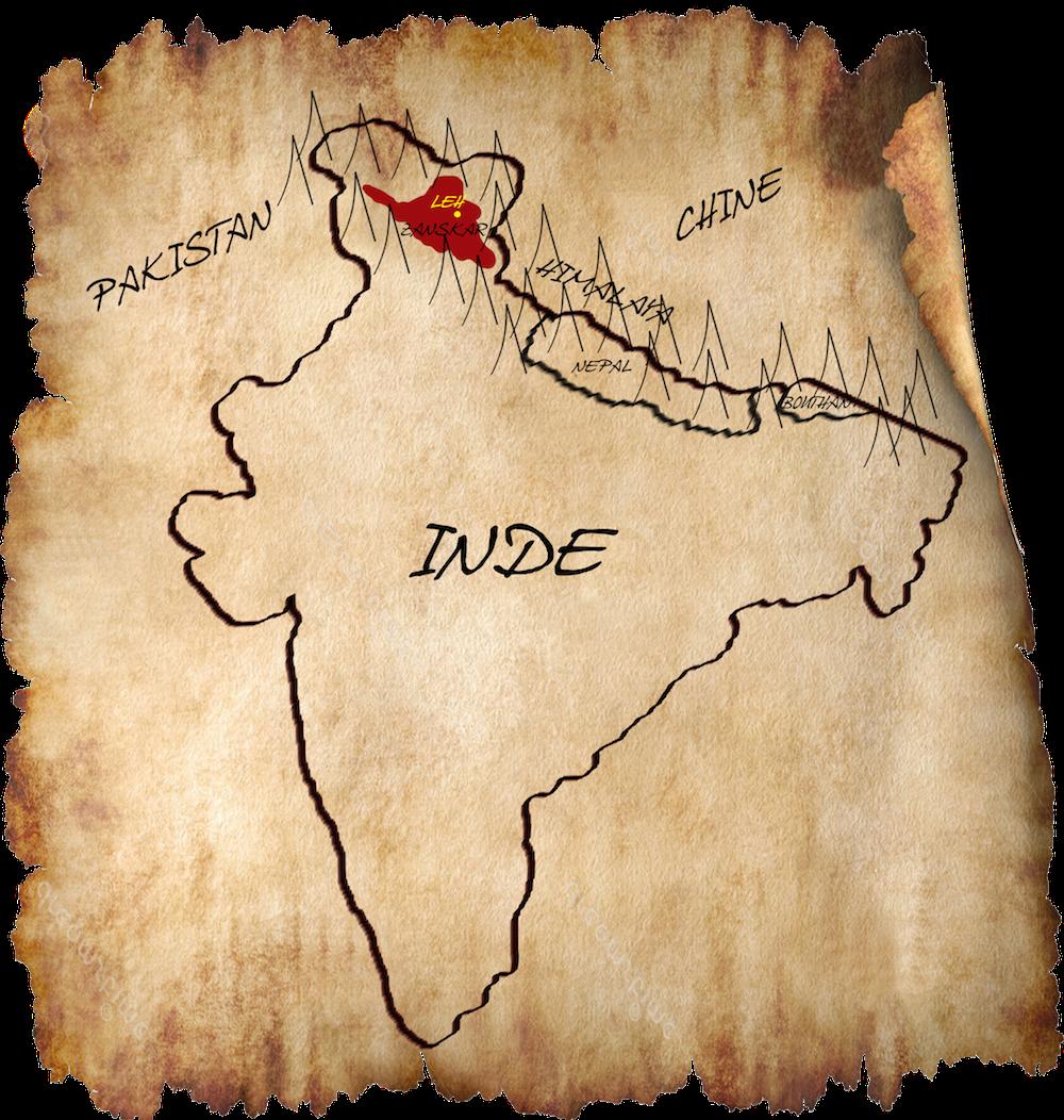 Carte du Zanskar