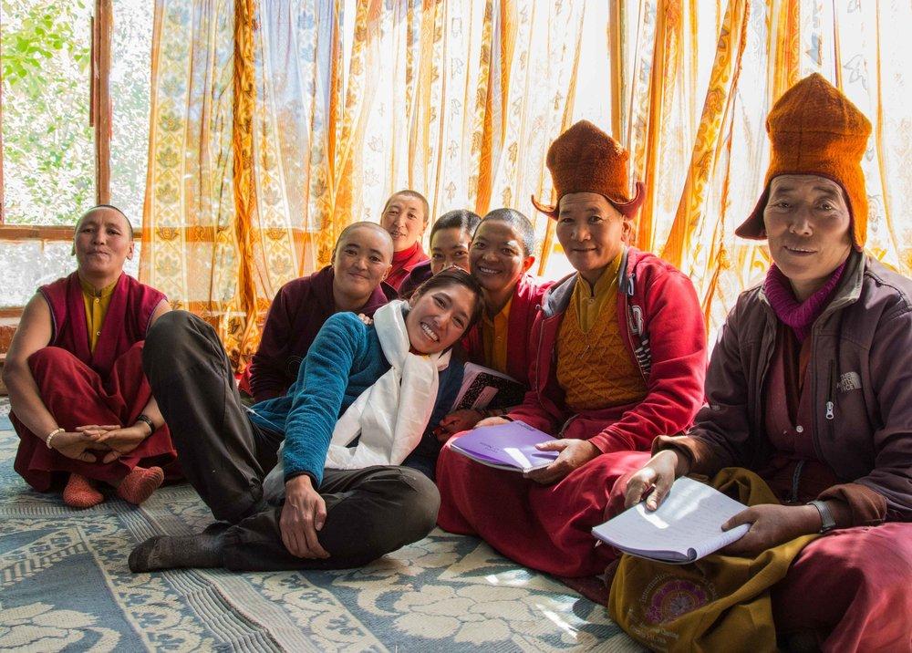 Avec les nonnes bouddhistes du Zanskar - Septembre 2013