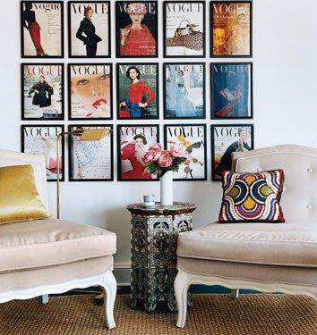 framed Vogue magazine - magazine wall art - wall art - art wall - interior design - decor - living room design and decor via decor pad.jpeg