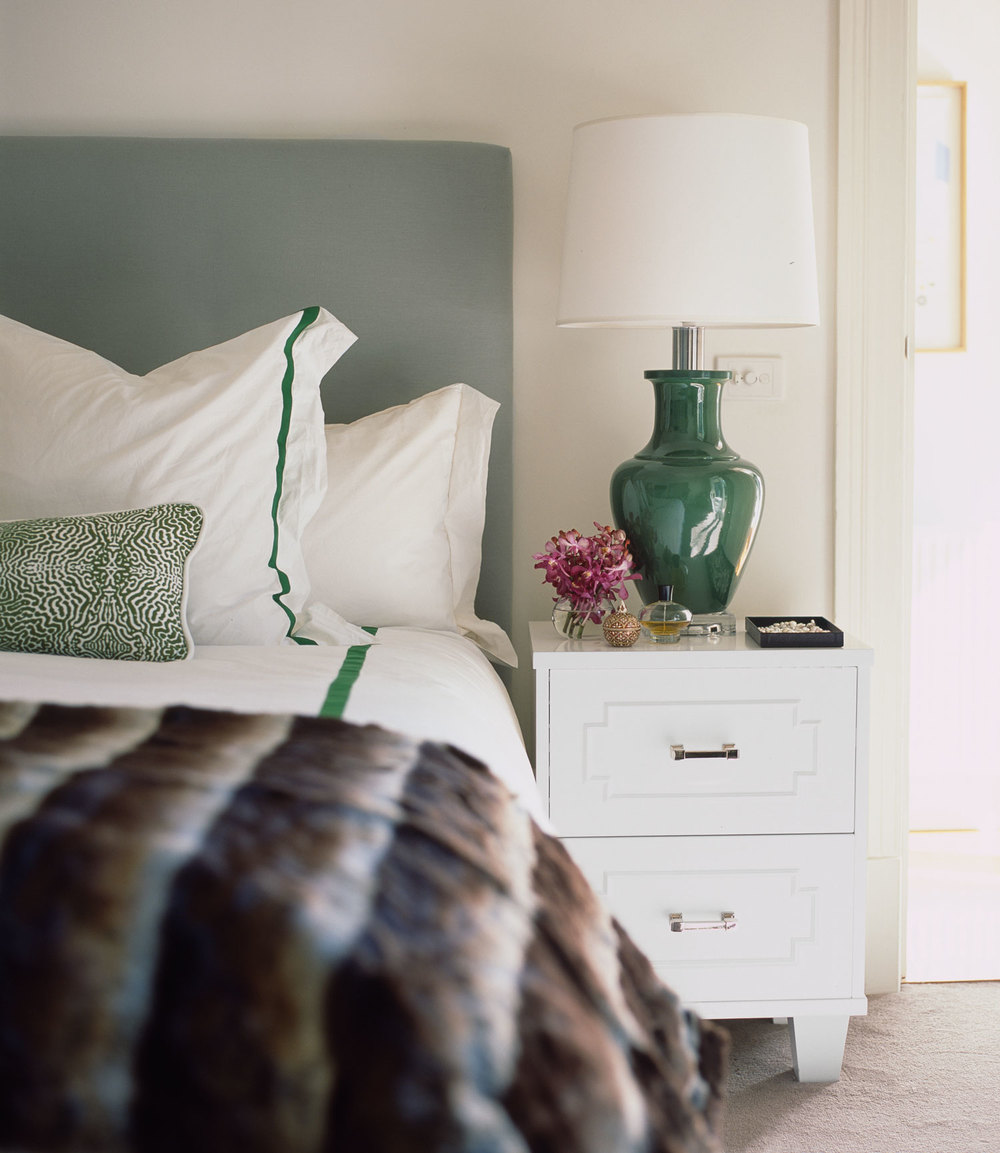 bedroom-fur-throw-light-teal-bedhead-jade-table-lamp-white-bedside-custom-white-bedlinen-diane-bergeron.jpg