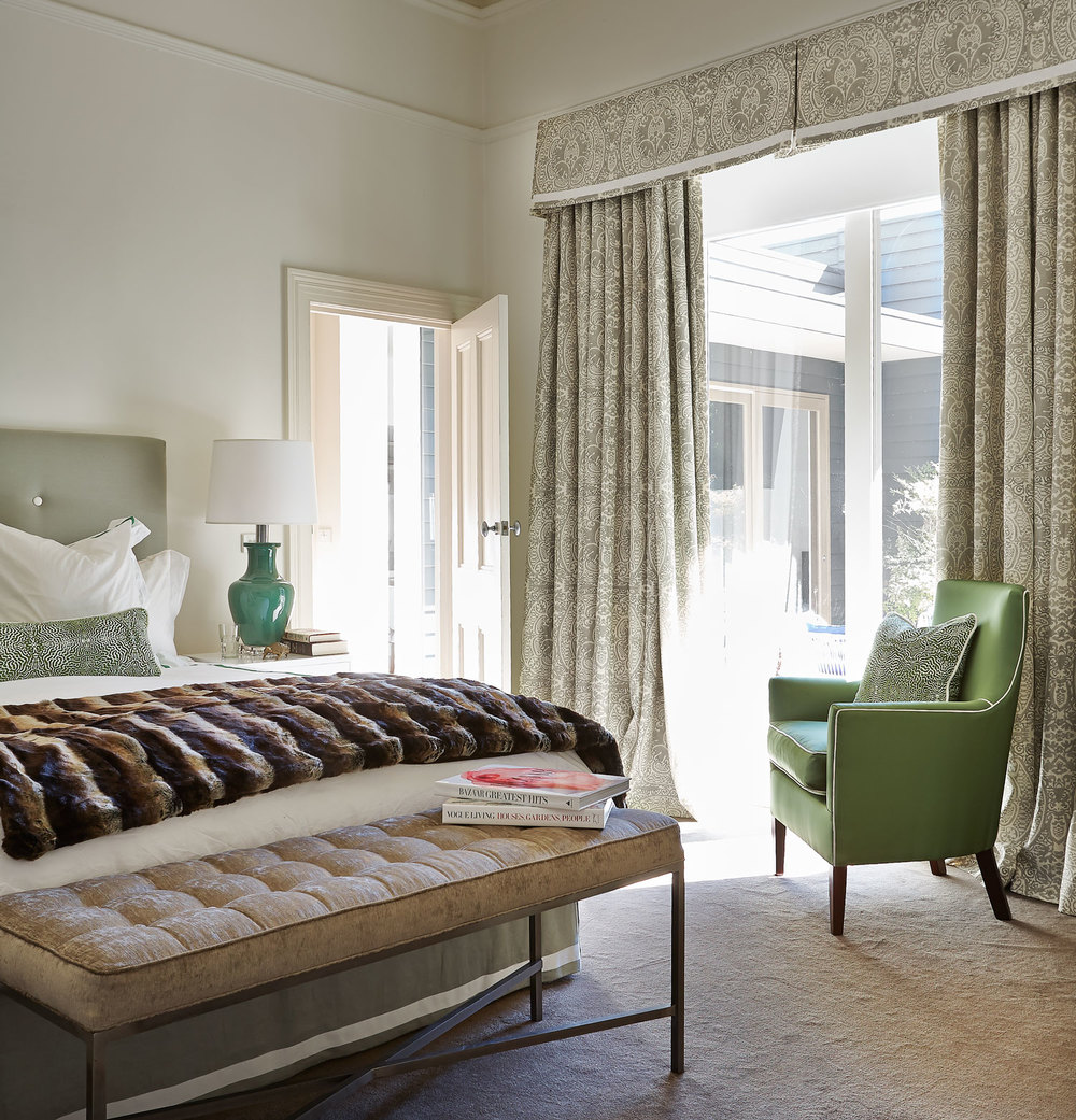master-bedroom-jade-green-fur-throw-buttoned-bench-diane-bergeron.jpg