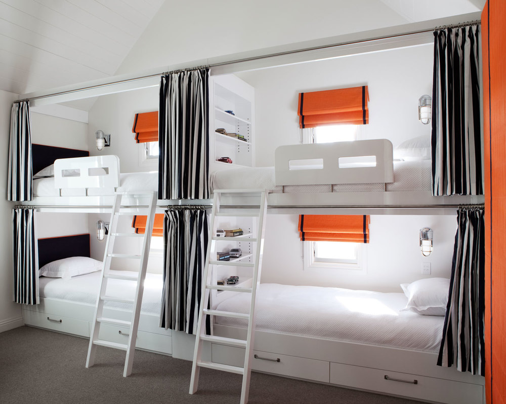 four-bunk-bed-navy-white-stripe-curtain-burnt-orange-roman-blind-diane-bergeron.jpg