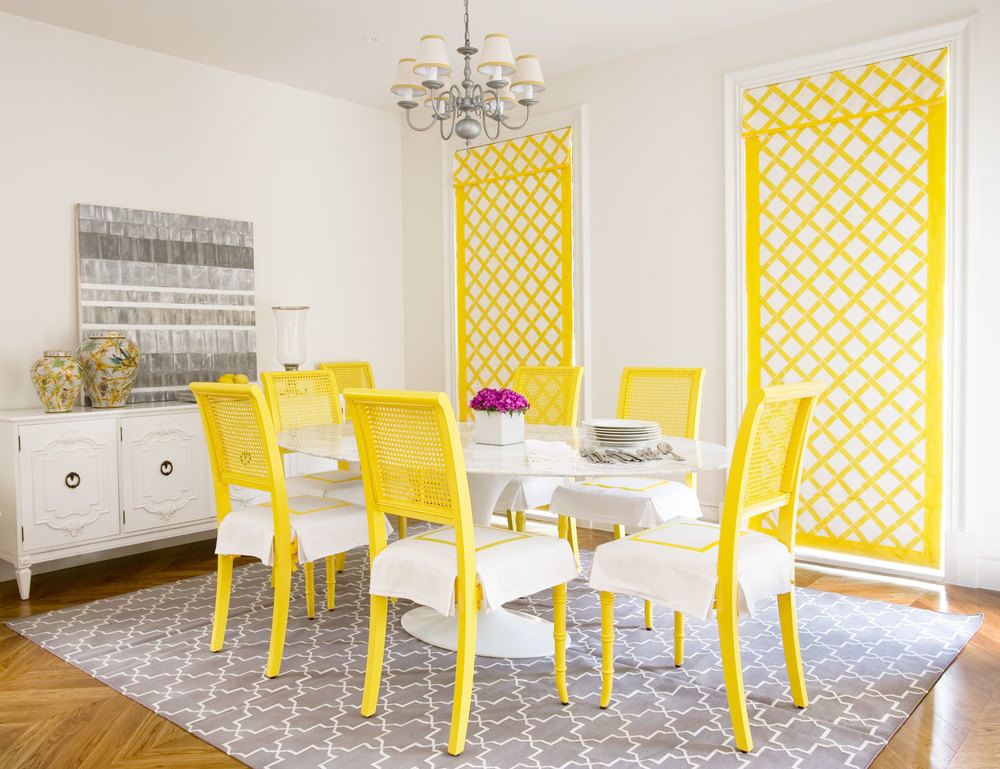 dining-room-yellow-chairs-madeline-weinrib-gray-brook-rug-diane-bergeron.jpg