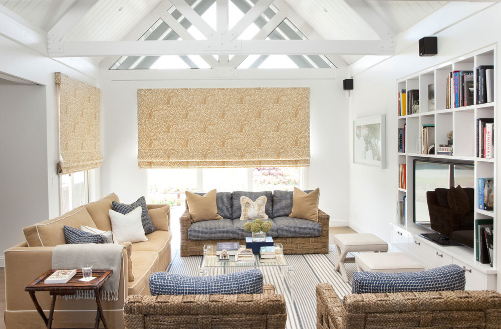 Living room interior design diane bergeron interiors - Airy brown and cream living room designs inspired from outdoor colors ...