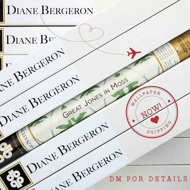 Wallpaper Now Available! DM or email us at info@dianebergeron.com for more information