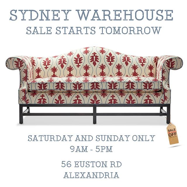 @arthurgfurniture  Sydney, sale starts tomorrow!  Up to 60% off new and ex-floorstock items for two days only. 56 Euston Rd Alexandria. DON'T MISS OUT!