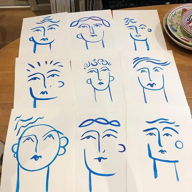 This collection of portraits by the extraordinarily talented  @alexandrabrownlowartist will grace the walls of @mirabelfoundation Mirabel House soon. Just another wonderful creative bringing their skills generously to the table. I can't wait to see these in situ!