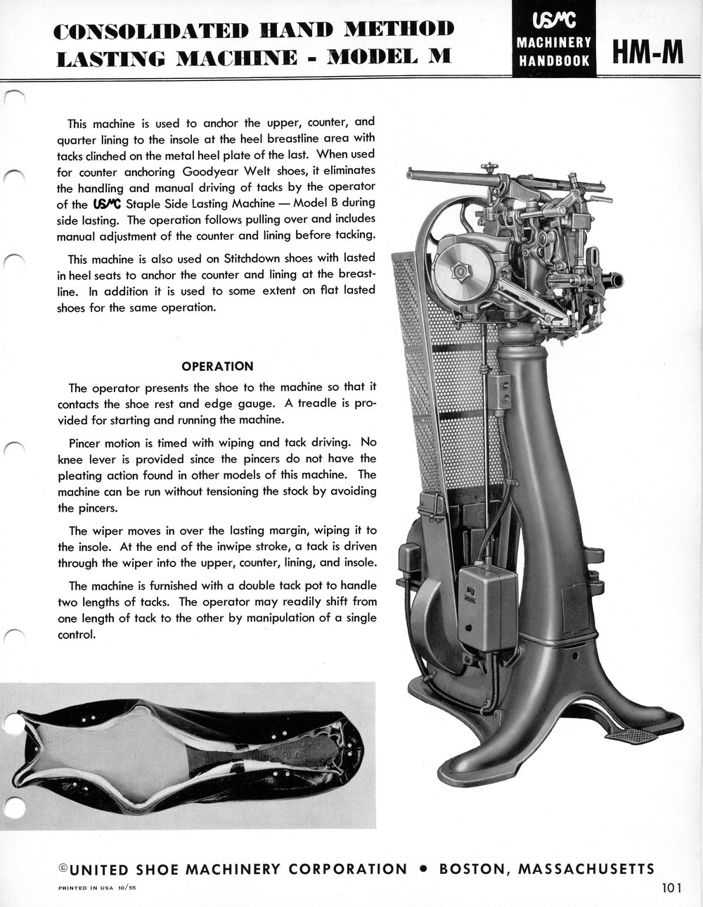 1955 USMC catalog page
