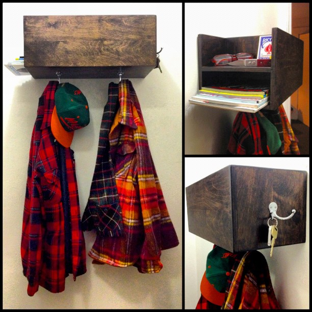 WALL CUBBY COAT RACK