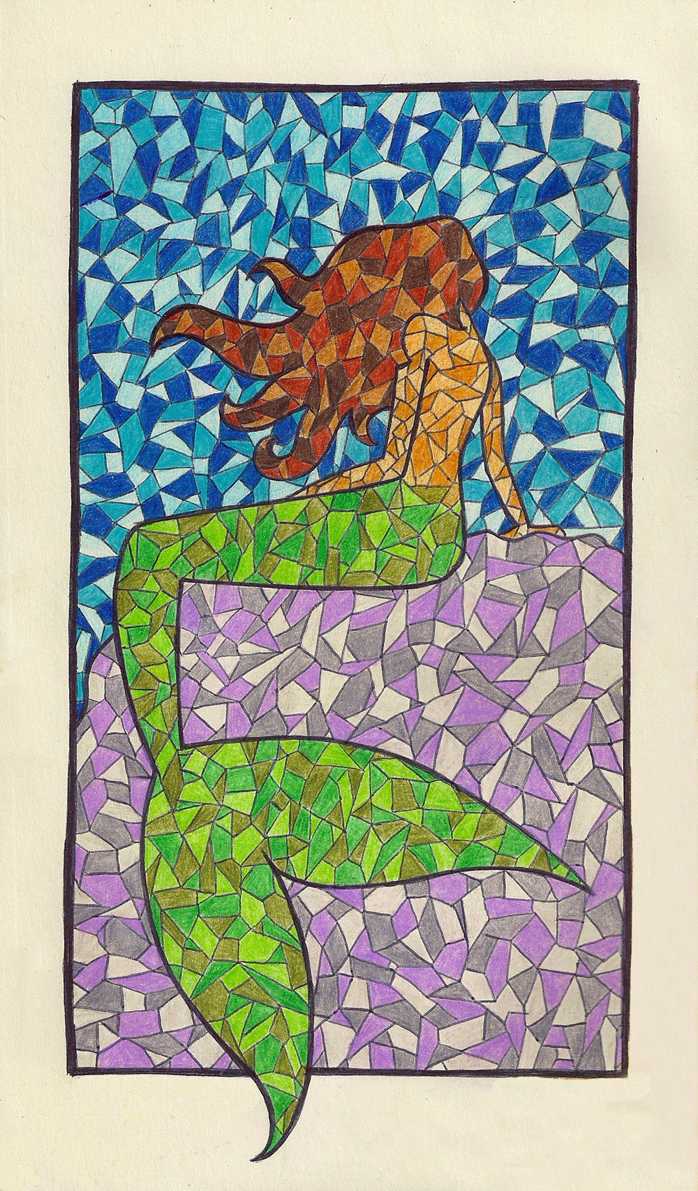 """Stained Glass Mermaid"" by Isabella Ronchetti"