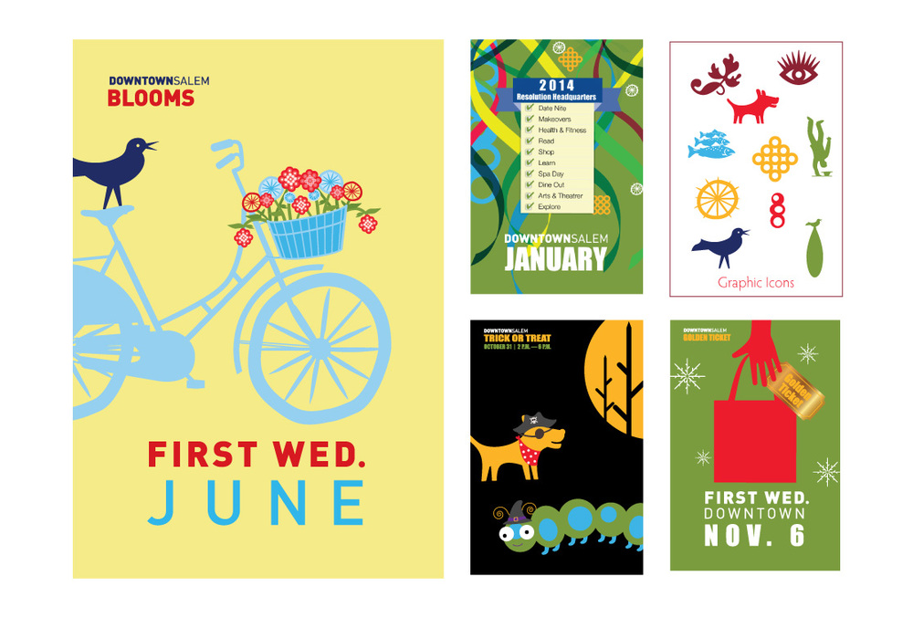 "City of Salem, Oregon ""First Wednesday"" posters"