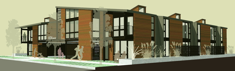 Portland Courtyard Housing Competition - Street View