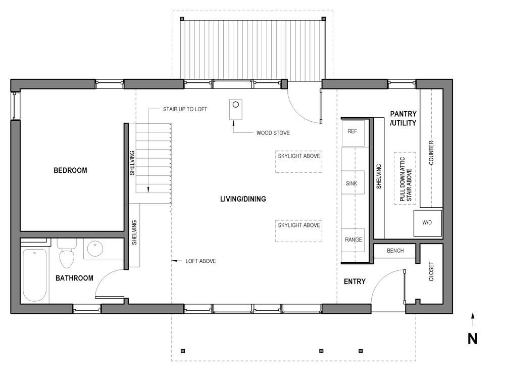 Portland Small Family House - Plan