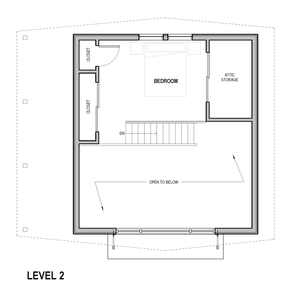 Portland ADU mother in law - Loft Plan