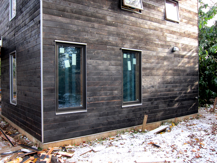 Portland Small Family House   shou sugi ban. HIDDEN HOUSE   Polyphon Architecture   Design  LLC   A Portland