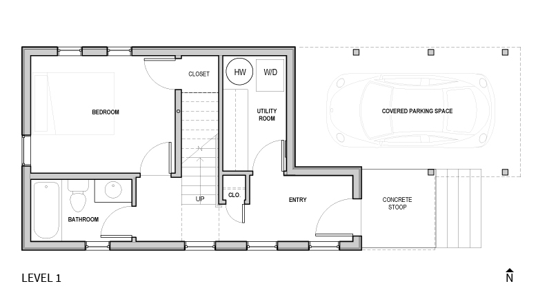 Ainsworth ADU - ground floor plan-rental unit