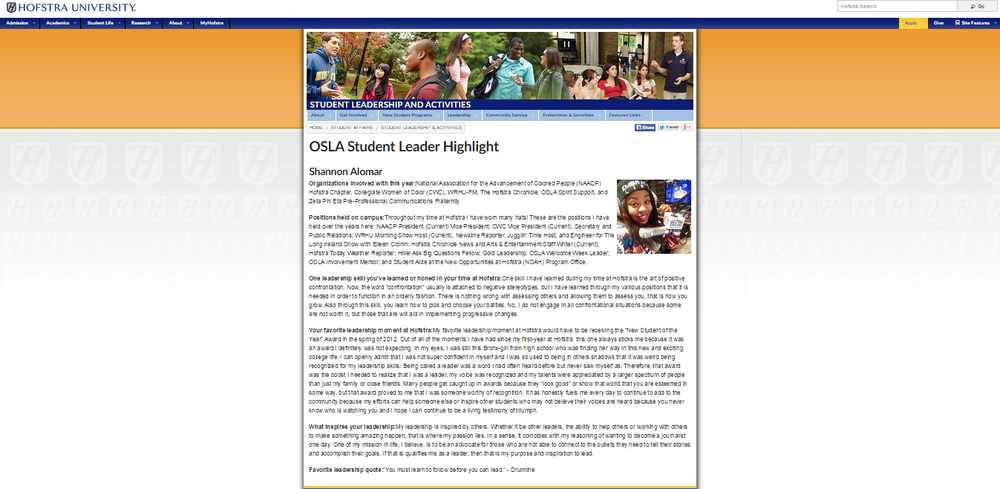Click the screenshot to see the official page on the Hofstra website.